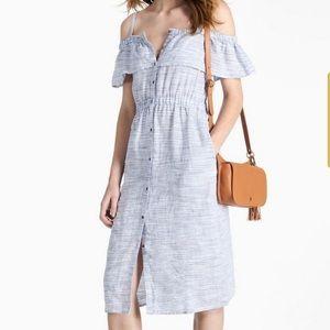 Lucky 🍀 Brand Off-Shoulder Midi Dress